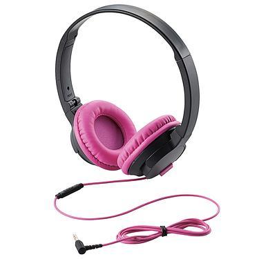 ELECOM頭罩式耳麥/ ON100M/ 粉