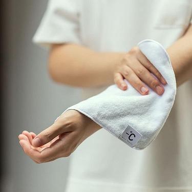 100% Minus Degree 降溫涼感手巾/ 柔軟/ 灰