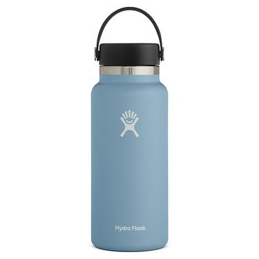 Hydro Flask 32oz寬口真空保溫鋼瓶/ 雨滴藍