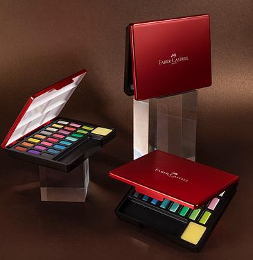 FABER-CASTELL攜帶型24色水彩塊/ 金屬色