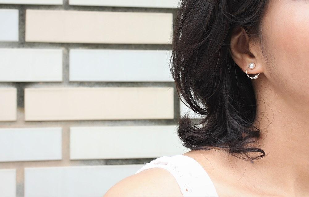 One n Only Jewelry Dot Dot 14K注金耳夾_白_誠品線上