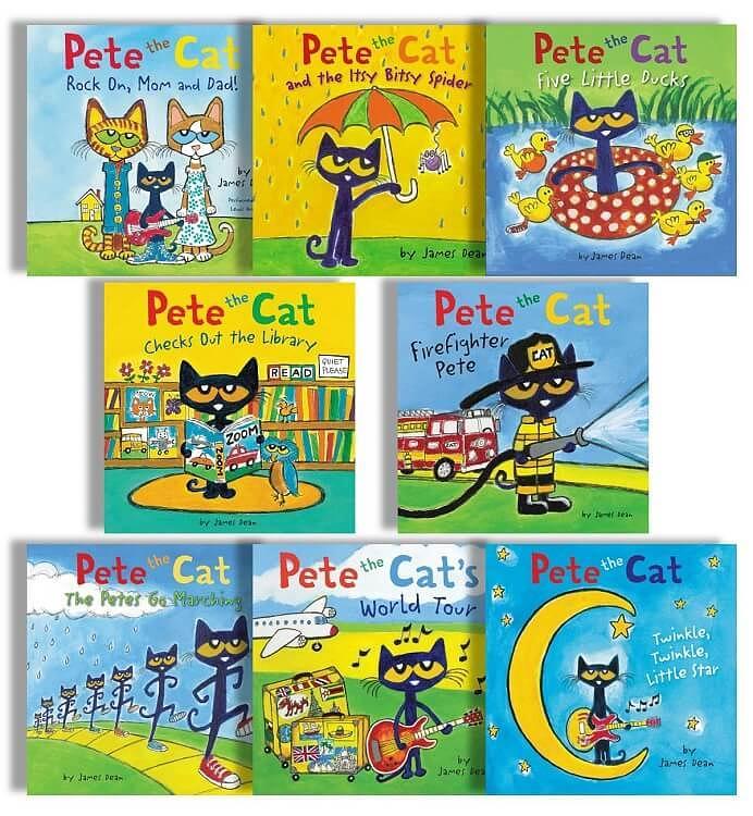 Pete the Cat Board Book 8-Set (8冊合售)