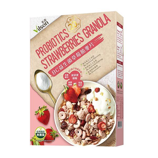 Vilson米森BC益生菌草莓脆麦片 诚品线上