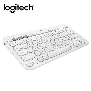 logitech羅技K380多工藍芽鍵盤/ 珍珠白