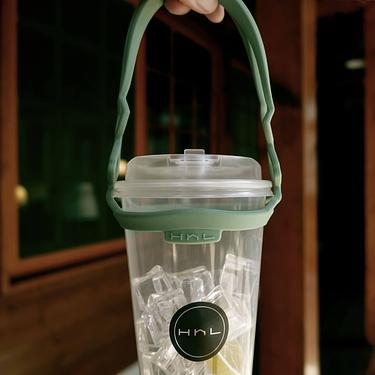 HhL DESIGN拎杯矽膠環保飲料提袋2.0/ 酪梨綠