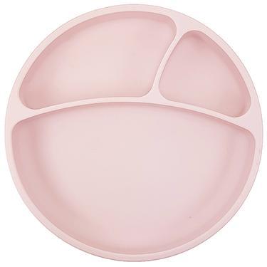 minikoioi防滑矽膠餐盤/ 薔薇粉