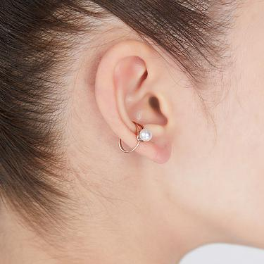 ARTISMI Merge Pearl Earcuff Rose Gold 簡約珍珠耳扣