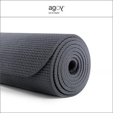 【agoy】學園瑜伽墊3.5mm-煤炭灰