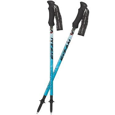 【義大利FIZAN】超輕三節式健行登山杖2入特惠組 海洋
