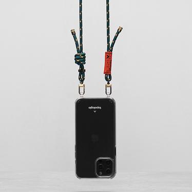 Topologie Verdon iPhone 12 Pro Max繩索背帶手機殼/ 森林綠