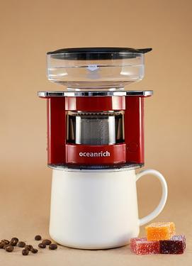 Oceanrich單人旋轉萃取咖啡機/ S2/ 莧紅色