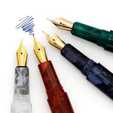 日本 HIGHTIDE 大理石紋鋼筆/ 綠