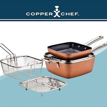 Copper Chef 黑鑽方鍋5件組