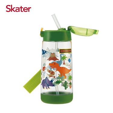 Skater PET吸管水壺/ 480ml/ 恐龍